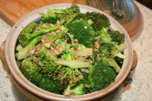 Broccoli with Garlic Walnut Sauce