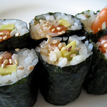 Vegetable Nori Rolls with All the Fixin's